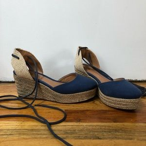 Schutz Canvas Espadrille Wedge